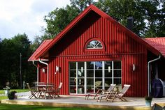 Red Roof House, My House, Red Houses, Home Fashion, Country Style, House Plans, Cottage, Exterior, Outdoor Structures