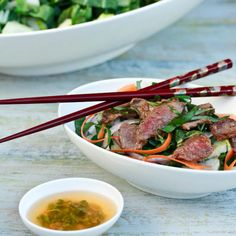 Easy Asian Beef and Bok Choy Salad