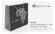 Branded Andy Cartwright gift bags Great for packaging gifts for end of the year gifts to clients. It is part of the I am African range. Corporate Outfits, Corporate Gifts, Andy C, Brand Innovation, Business Gifts, Business Branding, Gift Bags, South Africa, Packaging
