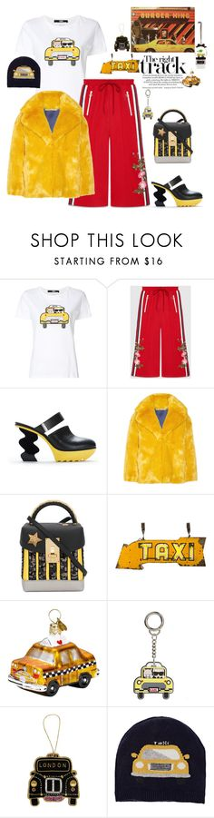 """""""Juuuuhuuuu, Taxi!"""" by juliabachmann ❤ liked on Polyvore featuring Karl Lagerfeld, Gucci, Diane Von Furstenberg, TAXI, The Volon, Bombki, Tinker Tailor, Barneys New York and Henri Bendel"""