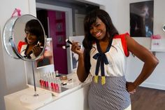 Houston makeup artist Kim Roxie  debuts her LAMIK Beauty products at Macy's in June.