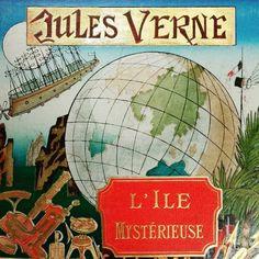 Half #boatsinthelibrary half #planesinthelibrary.  #rarebooks #bookstagram #publishersbinding #JulesVerne #Hetzel #19thcentury #bibliothequearmandsalacrou