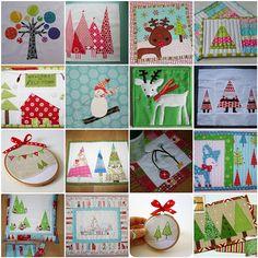 Christmas Mug Rug Swap Mosaic, via Flickr.