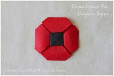 Remembrance Day Poppy Origami