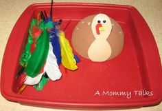Colorful Turkey for little hands {Great fine motor activity}