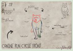 #Artwork #Gif #CANINE #RUN #CYCLE #FRONT #BASE by NorthernRed