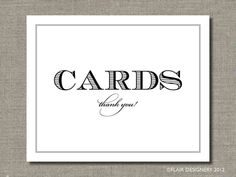 Wedding Cards  Printable Wedding Poster Bar by FlairDesigneryLLC, $7.50