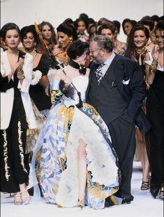 Isabelle Adjani. Défilé Dior - catwalk - runway - model - fashion