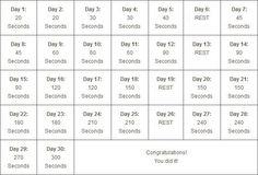 """Képtalálat a következőre: """"30 days planking challenge"""""""