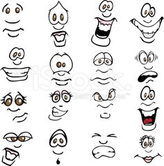 Cartoon Expressions royalty-free stock vector art