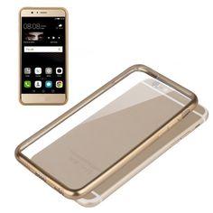 Carcasas transparentes con borde dorado, plateado para Huawei P9 Lite