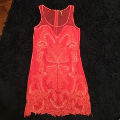 Free People summer dress Free People summer dress with beaded detail Free People Dresses Mini