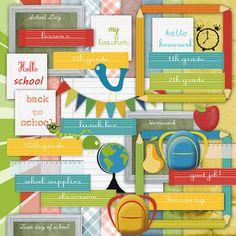 School is Cool Scrapbook Kit Back to School by DesignOnALara, $5.00