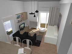 This apartment of 75 sq.m. is situated in Acharnes, Attica and is designed for a family of three. The owners of the apartment, a couple, tried to avoid any rearrangement of walls, while their priority was to create a cozy living- room and a functional bedroom in a rather narrow space for another member ps architectural studio | proposal 2007
