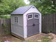 Suncast Cascade 7 ft. 3 in. x 7 ft. 4.5 in. Resin Storage Shed BMS7790D at The Home Depot - Mobile & Suncast Sutton 7 ft. 3 in. x 7 ft. 4.5 in. Resin Storage Shed ...