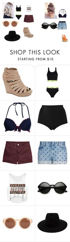 """""""Untitled #267"""" by geor6900 on Polyvore featuring Madden Girl, Moschino, Canvas by Lands' End, Monki, H&M, STELLA McCARTNEY, ZeroUV, NLY Accessories and rag & bone"""