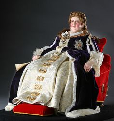 Full length color image of Queen Anne aka. Queen of Great Britain and Ireland, by George Stuart. Visit Our Site For More Information: http://www.galleryhistoricalfigures.com/figuredetail.php?abvrname=QnAnne