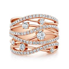 Make a statement with this gorgeous Forevermark ring! #forevermark #padisjewelry #diamondring #rosegold