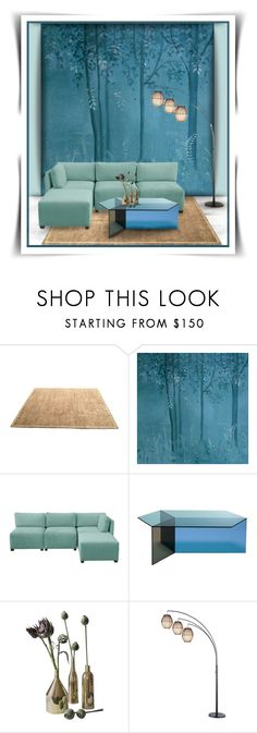 """""""Magic Forest Room"""" by joy2thahworld ❤ liked on Polyvore featuring interior, interiors, interior design, home, home decor, interior decorating, Barbara Barry, Skyline, Adesso and Home"""