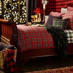 Tartan Duvet - Ralph Lauren Home Tartan Christmas, Christmas Fashion, Plaid Christmas, Country Christmas, Christmas Home, Christmas Items, Winter Christmas, Tartan Weihnachten, Master Bedroom