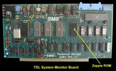 """My first computer a TDL Xitan Alpha 2.  This is a photo of the system monitor board containing the Zapple"""" Z80 monitor in its custom 4K ROM. It was an extension   of an 8080 monitor program written by Roger Amidon called """"Apple"""" back in the mid 70's. It had all the basic requirements such as allowing the user to examine/modify   RAM or IO ports. It could output to a console, printer, punch, tape reader, or cassette recorder."""
