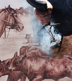 Pyrography on Leather- So much talent and such a great look! If you are in to Western art (horses, cows, deer, cowboys or anything else!) Check out her work.  I want one!