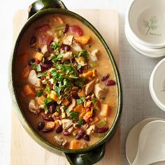 Red Bean, Chicken, and Sweet Potato Stew