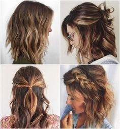 Lob Hairstyles, Long Bon Hairstyles, Hairstyle Short Hair, Pulled Back Hairstyles, Hairdos, Easy School Hairstyles, Date Night Hairstyles, Trendy Hairstyles, Easy Summer Hairstyles