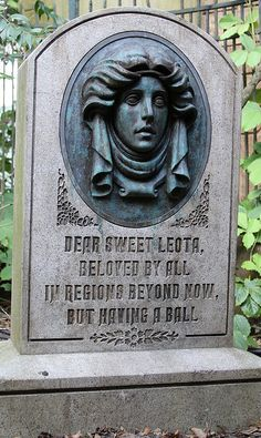 Madam Leota. If you look closely when you're in line her eyes open and shut and…