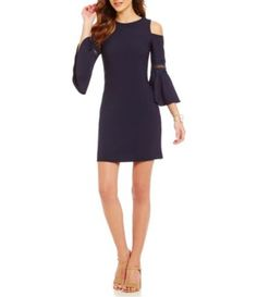 Shop for Eliza J Cold-Shoulder Bell Sleeve Sheath Dress at Dillards.com. Visit Dillards.com to find clothing, accessories, shoes, cosmetics & more. The Style of Your Life.
