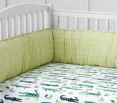 Alligator Crib Ed Sheet Baby Sheets Madras Nursery Bedding Sets