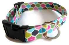 Modern Punk Dog Collar size Medium by jeanamichelle on Etsy, $12.00