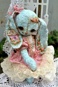 """Мишки Тедди ручной работы. Ярмарка Мастеров - ручная работа Плюшевая зайка """"Алиса"""". Handmade."""