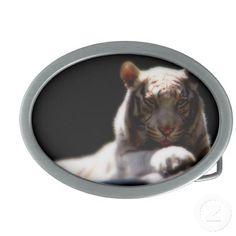 Majestic Tiger Oval Belt Buckle
