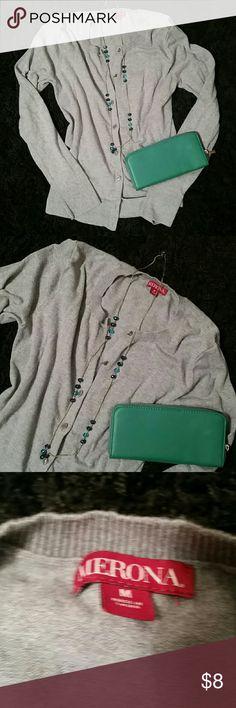 Merona Gray Cardigan Button up.  M. Merona Gray Cardigan Button up.  M. Good used condition. Merona Sweaters Cardigans