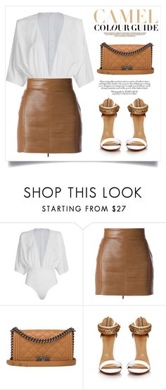 """""""Look #130 : Work Meeting"""" by bcnora ❤ liked on Polyvore featuring WithChic, Elisabetta Franchi, Chanel and Zara"""