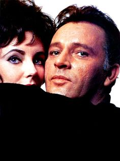 Richard Burton with Elizabeth Taylor Golden Age Of Hollywood, Hollywood Stars, Classic Hollywood, Old Hollywood, Richard Burton Elizabeth Taylor, Burton And Taylor, Mike Nichols, Peter Ustinov, Charles Bronson