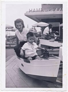 Courageous boy, cool mom, the Bronx, 1957 by Robert Barone, via Flickr