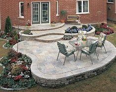 Brickpav Raised Patio Design Idea Brick Patio Outdoor Design