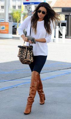 Shay Mitchell #ShayMitchell  #OverTheKnee #Boots #BulletBlues #AmericanJeans