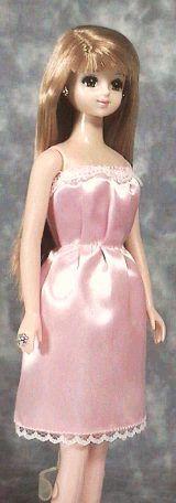 一枚タックドレス 「パプペポ」着せ替え人形の手作り服の作り方