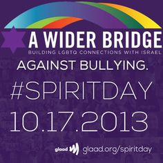 #SpiritDay http://awiderbridge.org/10-17-2013-its-spirit-day-for-lgbt-youth/