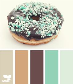 I love these colors and that donut looks good too!