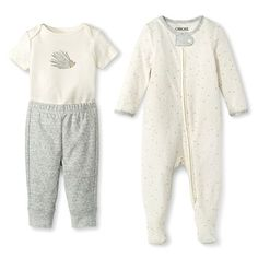 Newborn Top And Bottom Set Gray - Cherokee
