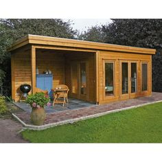 "The fundamental rule of garden buildings is ""you need a firm, level foundation no matter what you're doing"". Without that foundation your building or shed Flat Roof Shed, Shed Design, Flat Roof, Shed Plans, Garden Cabins, Outdoor Living, Summer House, Container House, Small House"