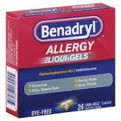 BENADRYL ALLERGY DYE FREE LIQUIGEL, 24 CT