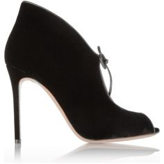 Gianvito Rossi Velvet ankle boots (3.950 RON) ❤ liked on Polyvore featuring shoes, boots, ankle booties, black, black velvet booties, black ankle bootie, high heel boots, black bootie and high heel booties
