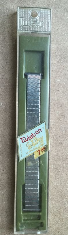 Vintage Speidel Mens Twist On Watch Band Still in by LeftoverStuff
