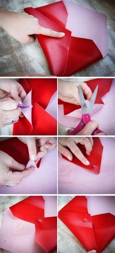 Como hacer una cartera de mano de vinilo