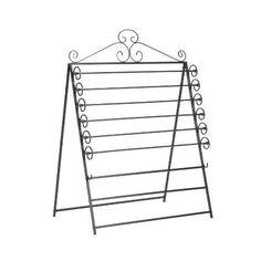Black wall mounted rack towel cloth hanging storage organizer furniture home new #KandN